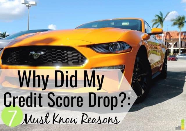 ¿Por qué mi puntaje de crédito cayó repentinamente?