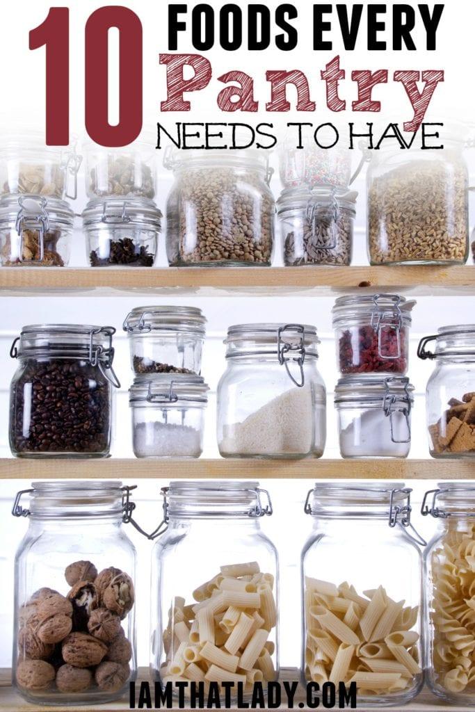 10 alimentos que debe tener la despensa muy frugal