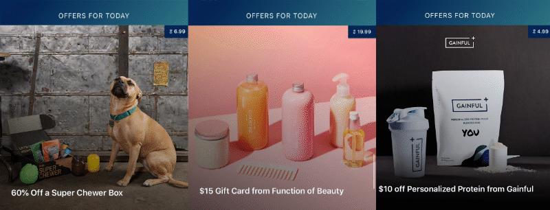 60% de descuento en una caja súper masticadora, tarjeta de regalo de $ 15 de Function of Beauty y $ 10 de descuento en las ofertas diarias de Proteína personalizada de Gainful
