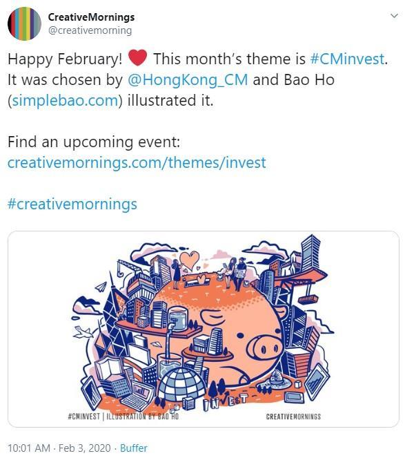 tweet sobre evento de red de marketing
