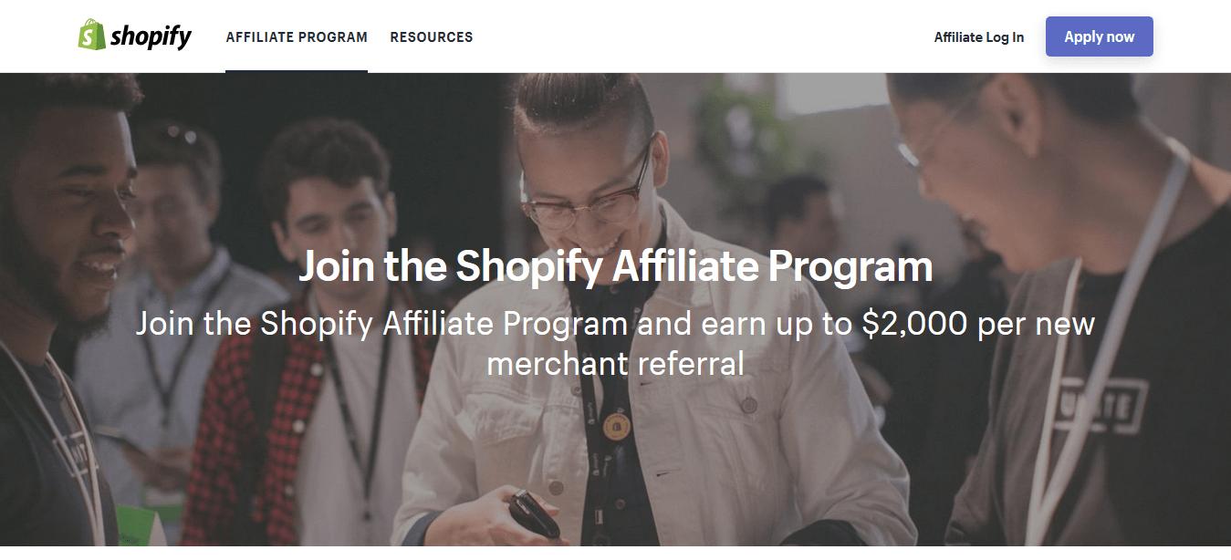 Red de afiliados de Shopify