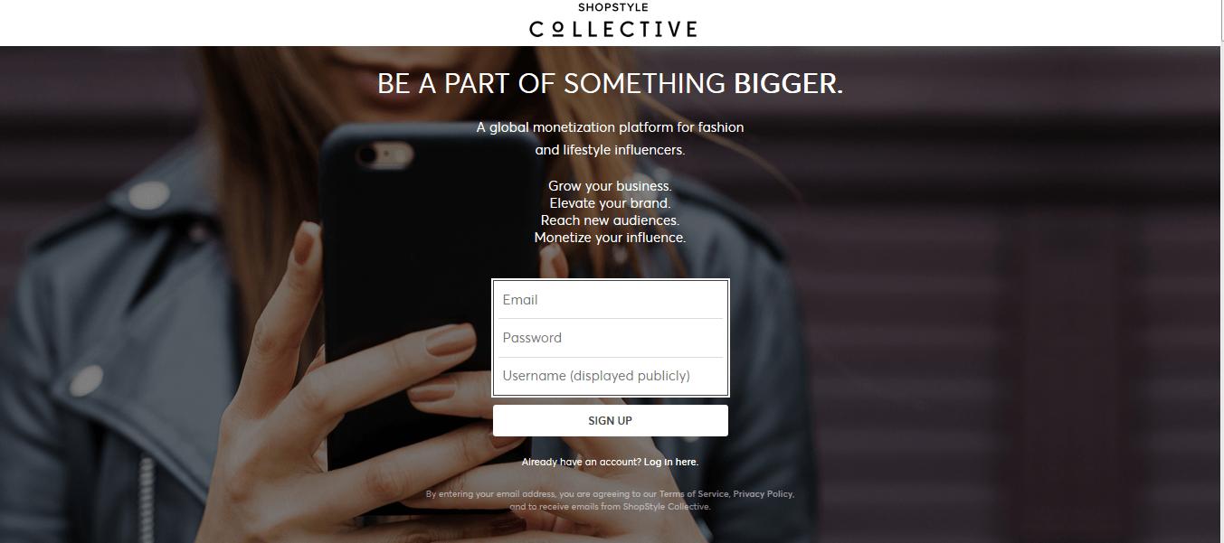 Programa de afiliación colectiva de Shopstyle