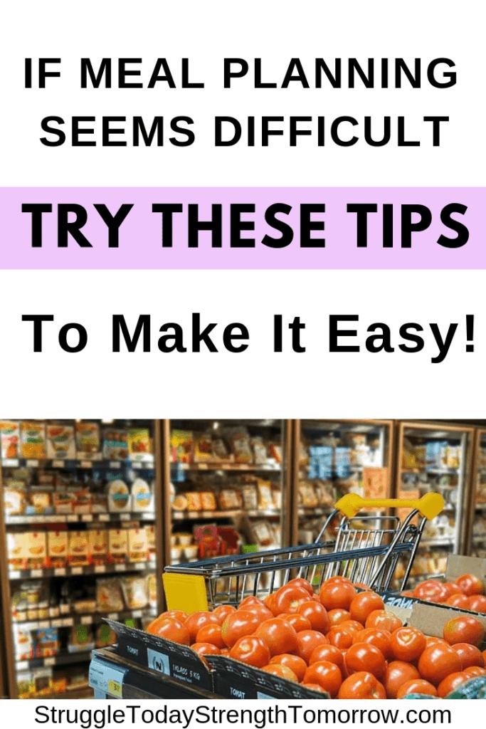 La planificación de comidas no debería ser difícil. Tengo algunos consejos útiles para ayudar a que sea más fácil. ¡Gaste menos en alimentos y comestibles dominando la planificación de comidas para su familia con estos consejos!