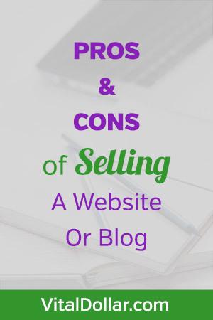 Pros y contras de vender un sitio web o blog