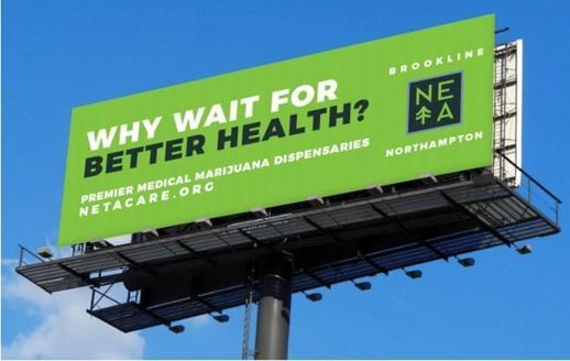 ejemplo de cartelera de marketing de cannabis