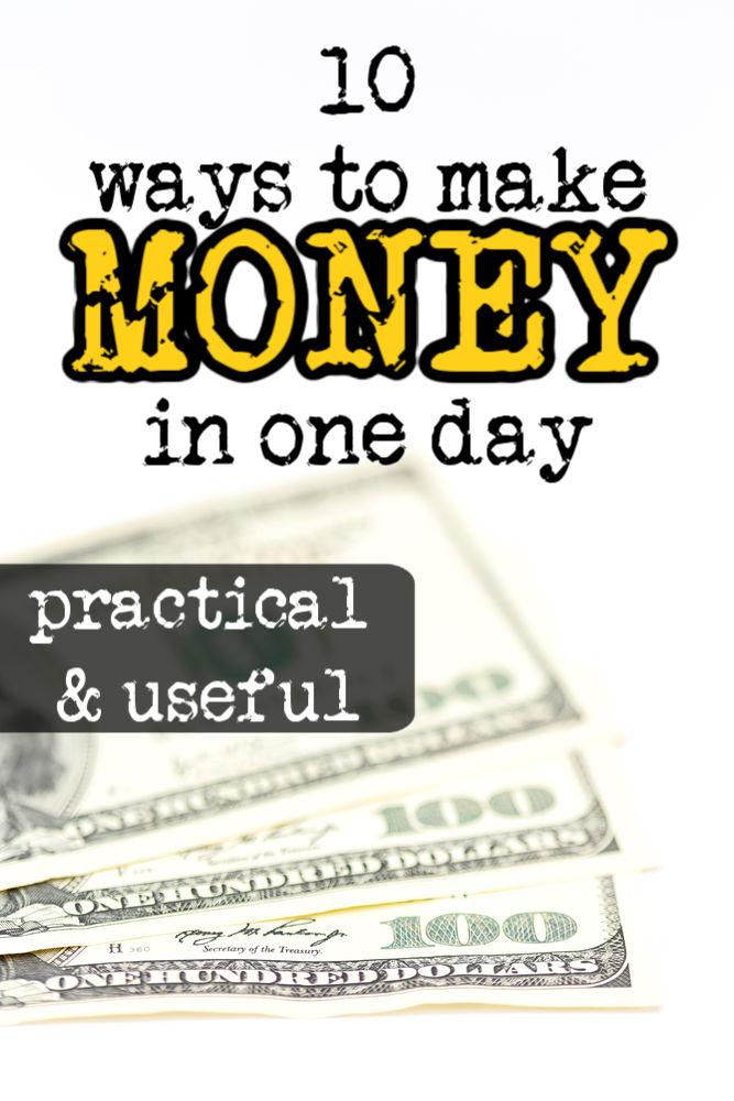 Si tienes problemas, hay formas de ganar dinero en un día. Si bien sus opciones pueden ser limitadas, puede encontrar algo en esta lista de diez ideas.