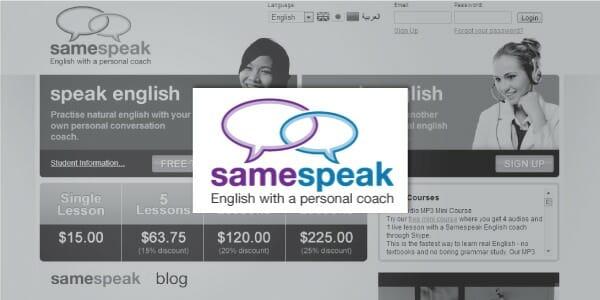 Sitio web de Samespeak