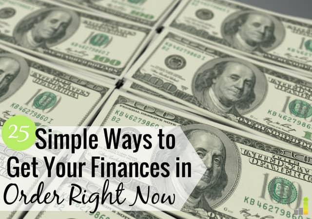 25 maneras de recuperar sus finanzas ahora mismo