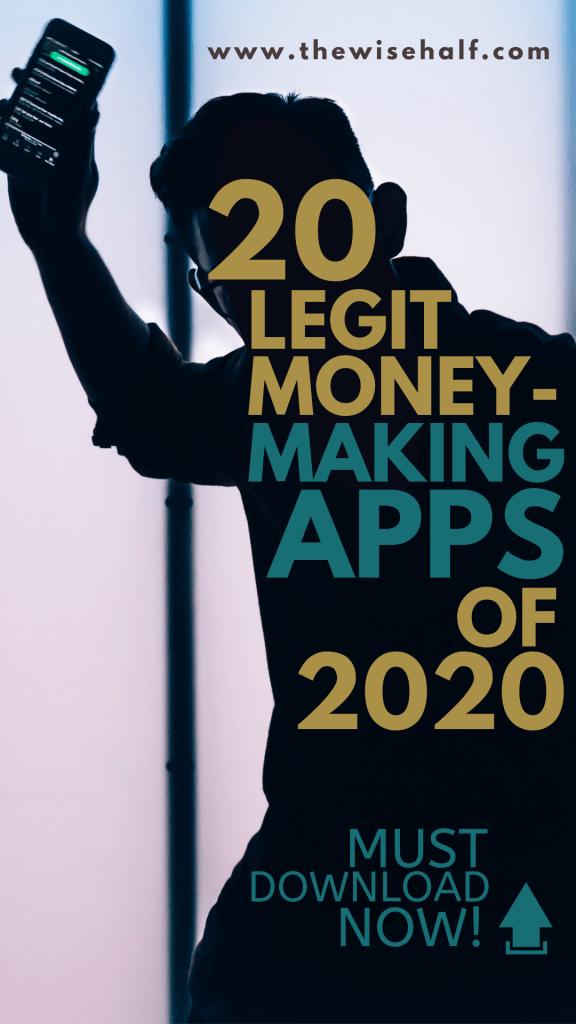 aplicaciones legítimas para hacer dinero de 2020