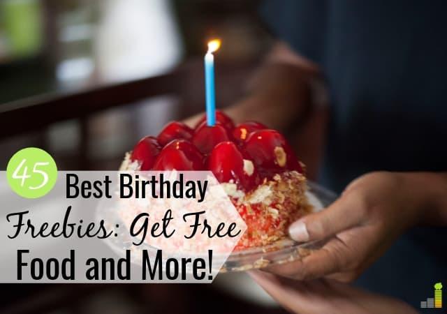 45 mejores lugares para obtener cosas gratis en tu cumpleaños