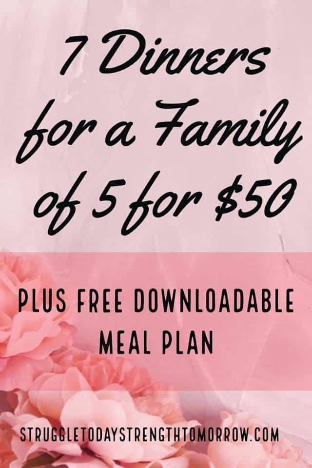 """7 cenas familiares grandes hechas por solo $ 50. perfecto para una familia de 5. más un plan de comidas descargable, GRATIS. Obtenga una lista de compras preparada con los ingredientes necesarios más un menú de plan de comidas semanal para su familia. 7 cenas fáciles de preparar, económicas, económicas y económicas. """"Srcset ="""" https://www.struggletodaystrengthtomorrow.com/wp-content/uploads/2019/02/51016072_281735372507737_1505876264815165440_n.jpg 640w, https: //www.struggletodaystrengthtomorrow. com / wp-content / uploads / 2019/02 / 51016072_281735372507737_1505876264815165440_n-200x300.jpg 200w, https://www.struggletodaystrengthtomorrow.com/wp-content/uploads/2019/02/51016072_281735372507737_150587626w15, 1616, https://151735372507737_15058762648 www.struggletodaystrengthtomorrow.com/wp-content/uploads/2019/02/51016072_281735372507737_1505876264815165440_n-600x900.jpg 600w """"tamaños ="""" (ancho máximo: 640px) 100vw, 640px"""