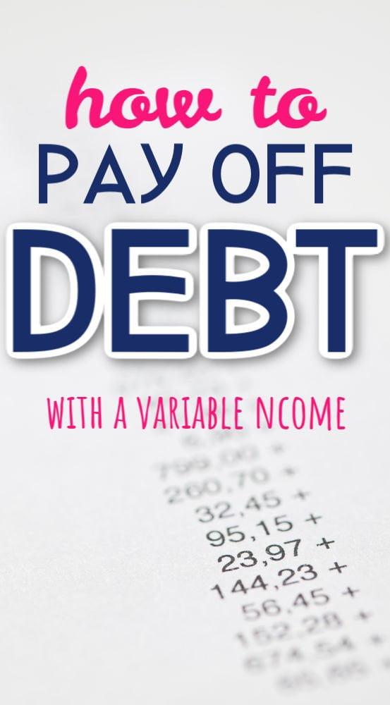 Cómo pagar la deuda con un ingreso variable