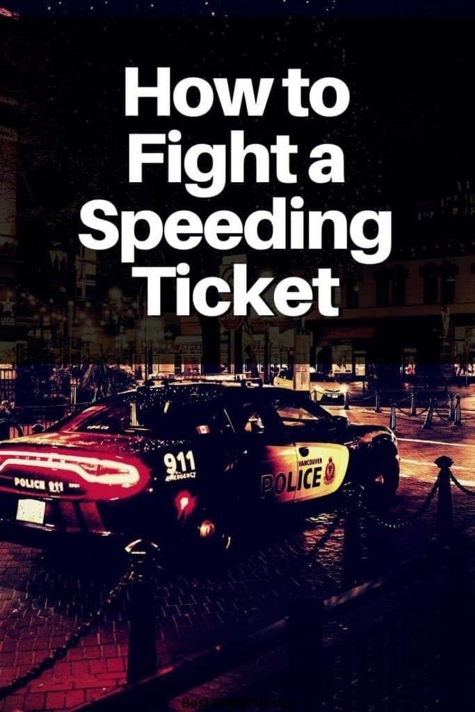 Cómo pelear una multa por exceso de velocidad