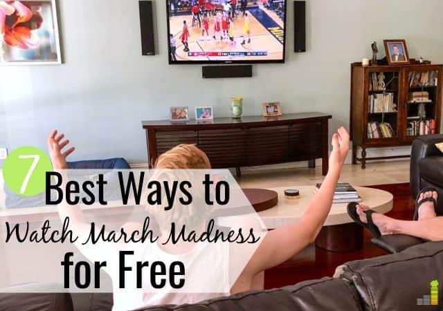 Puedes ver March Madness sin cable y ahorrar $ 50 + por mes. Aquí están las 7 mejores maneras de ver March Madness en vivo y ahorrar mucho dinero.