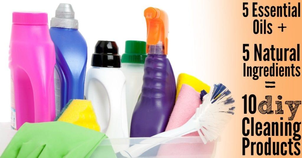 Haga 10 limpiadores domésticos con 5 ingredientes