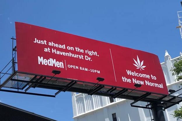 cartelera de marketing de cannabis