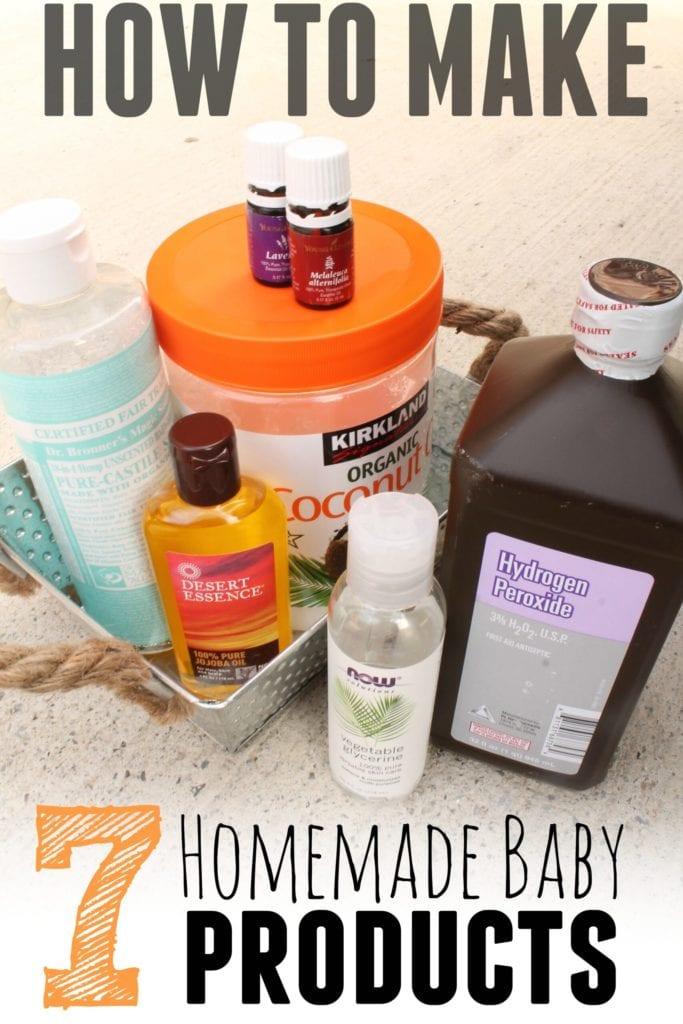 Productos caseros para bebés: 7 de ellos con solo 7 ingredientes en total