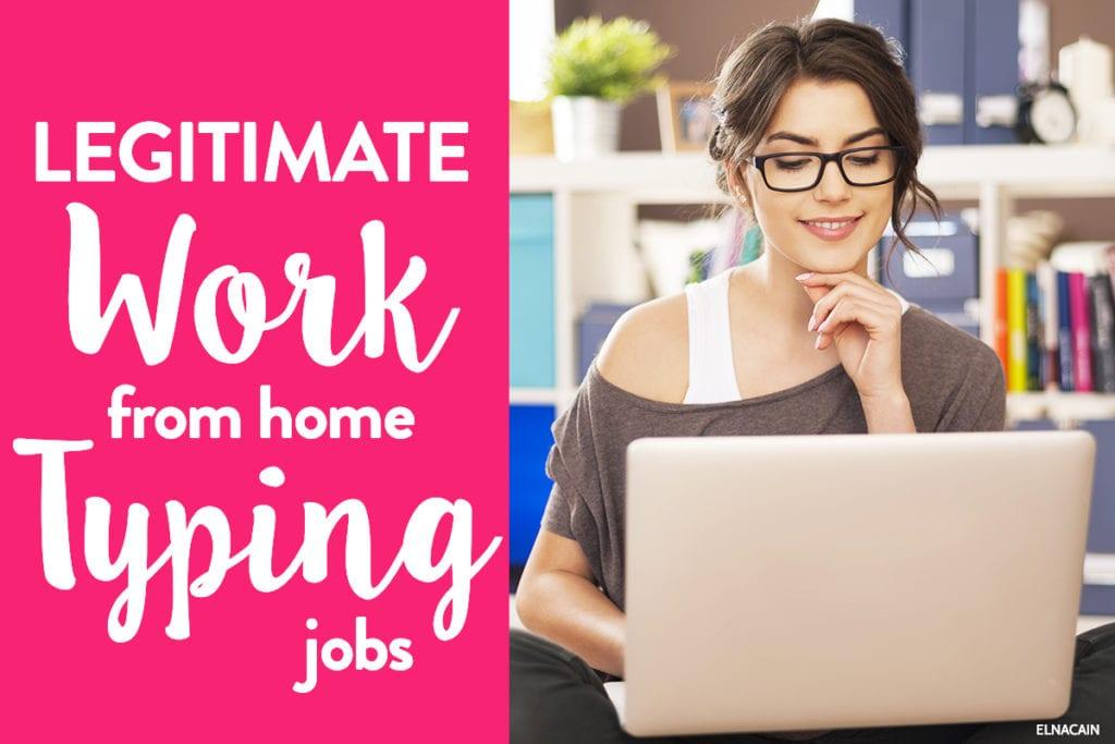 Trabajo legítimo desde trabajos de mecanografía en casa (que pagan más que trabajos de entrada de datos)