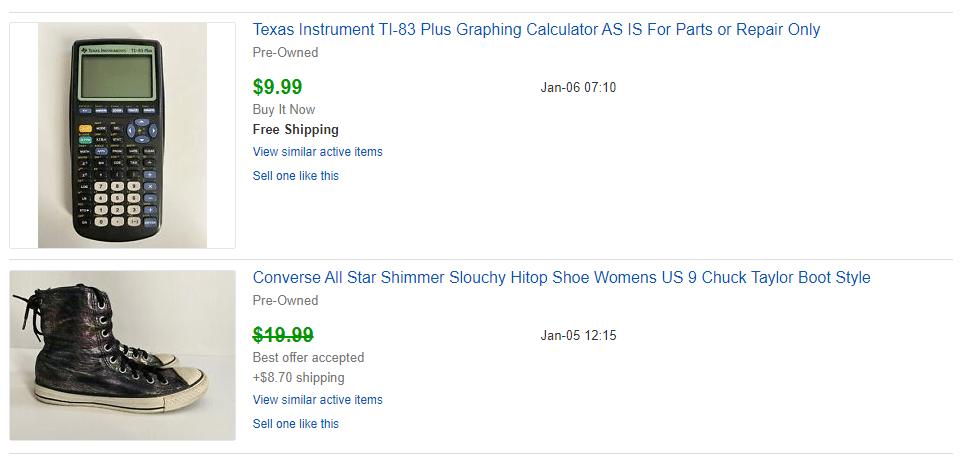 desafío de volteo de eBay