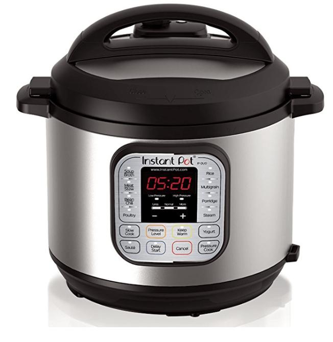 Olla instantánea DUO60 6 Qt 7-en-1 Multiuso olla a presión programable, olla de cocción lenta, olla arrocera, vaporizador, salteador, yogur y calentador