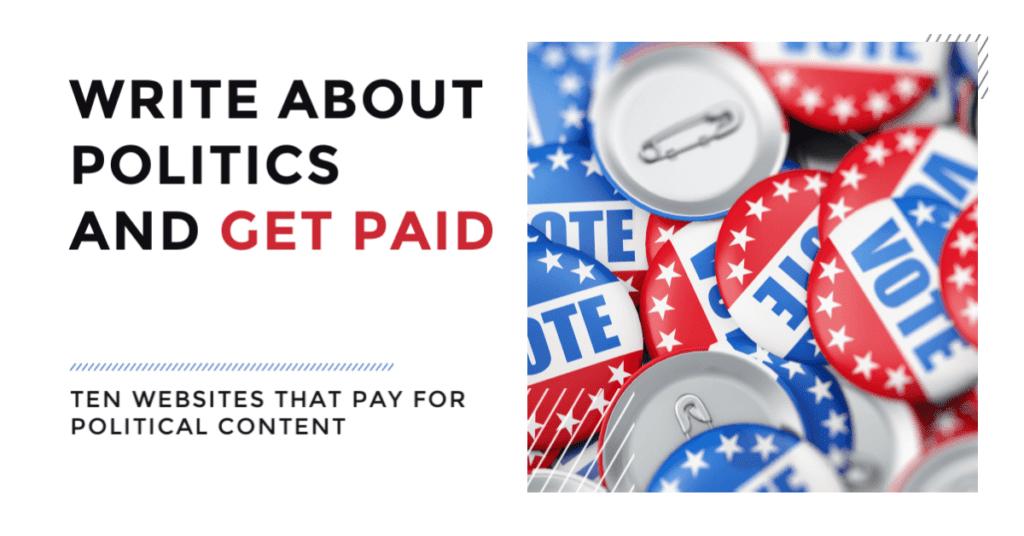 10 sitios que le pagan por escribir sobre política