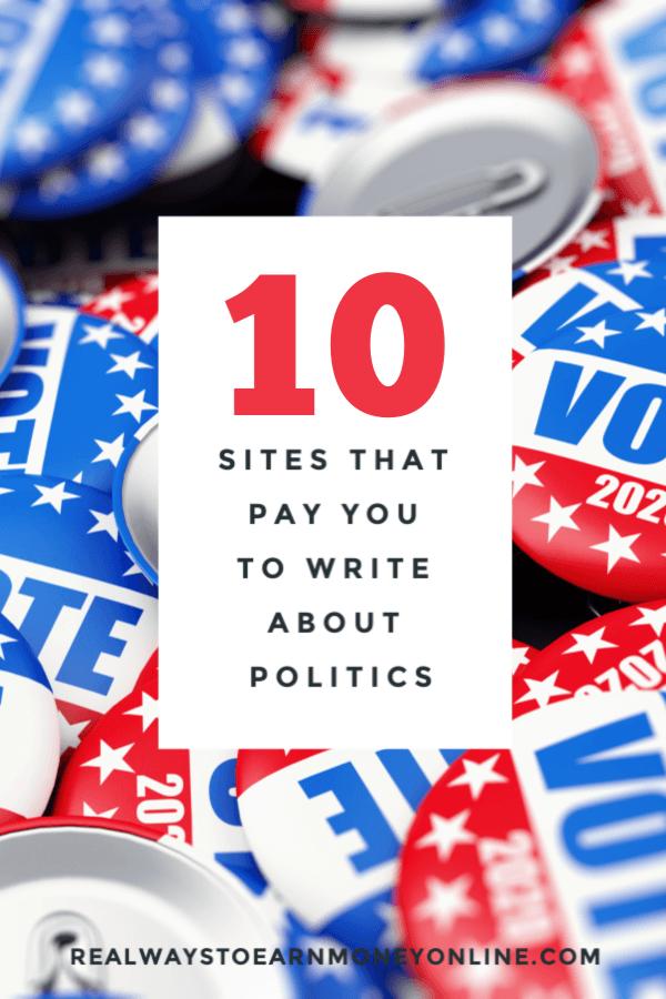 Cómo cobrar por escribir artículos políticos.
