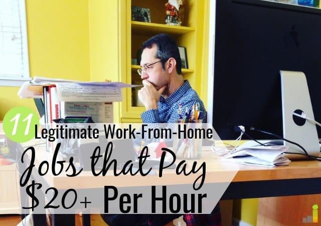 11 empleos legítimos de trabajo desde casa que pagan $ 20 + por hora