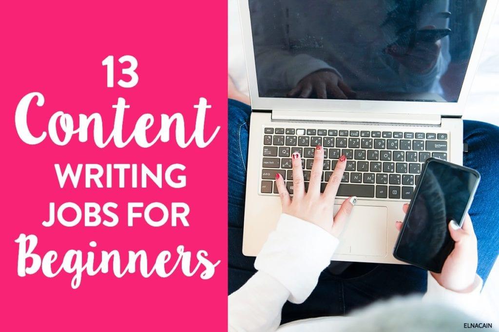 13 trabajos de redacción de contenido para principiantes completos