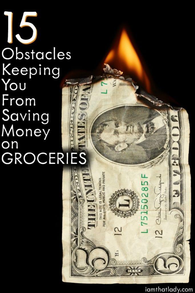 15 obstáculos que le impiden ahorrar dinero en comestibles