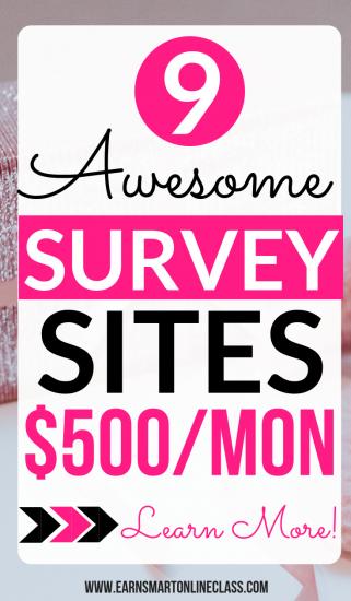 Tomar encuestas en línea pagas es una excelente manera de ganar dinero desde casa. ¡Echa un vistazo a esta lista de los 15 principales sitios de encuestas que pueden ganarte $ 800 / mes o más!