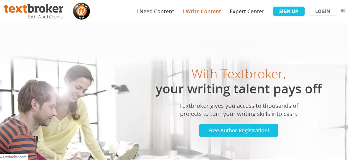 cobrar por escribir artículos en textbroker
