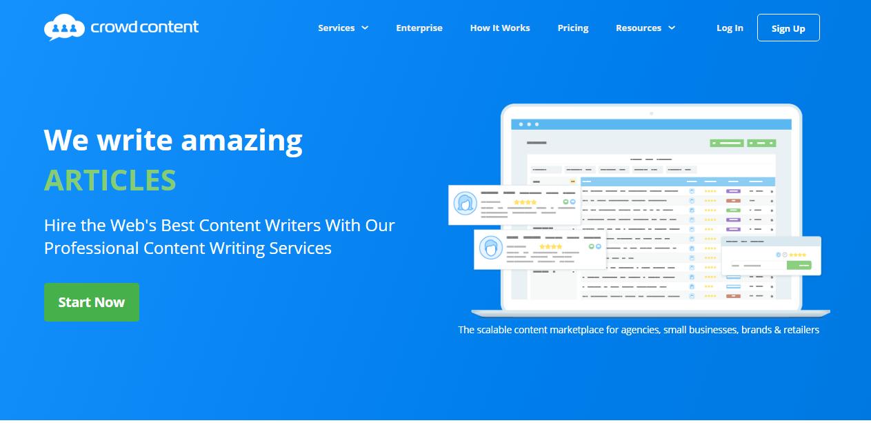 trabajos de escritura en línea para principiantes en contenido de multitudes