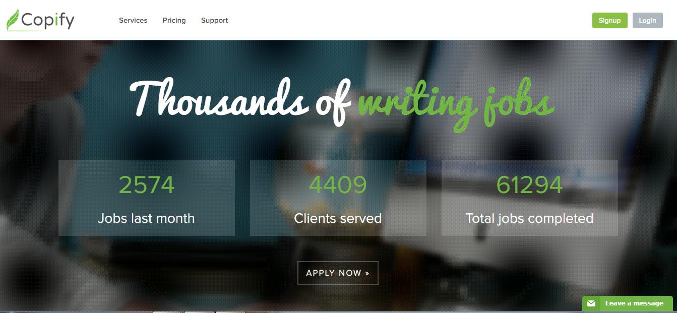 trabajos de escritura en línea pagados en copify