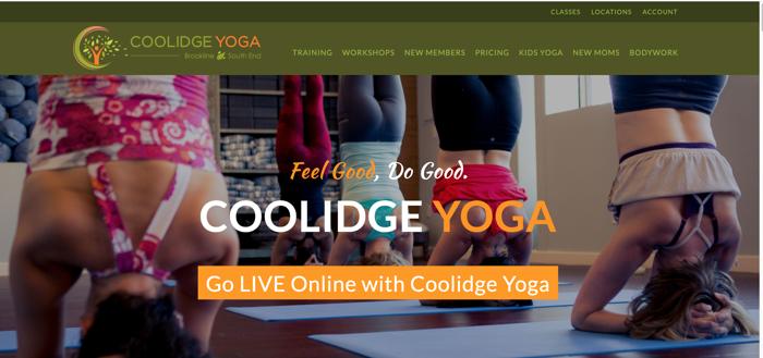 redacción de marketing durante COVID 19 coolidge yoga