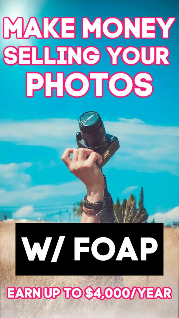 ¿Tomas algunas fotos geniales? Si es así, puede descargar la aplicación FOAP y comenzar a venderlas. ¡Los más vendidos ganan hasta $ 4k por año!