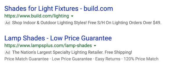 cómo construir un sitio de comercio electrónico ejemplos de anuncios