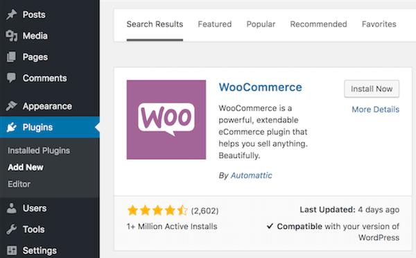 cómo construir un sitio web de comercio electrónico woocommerce