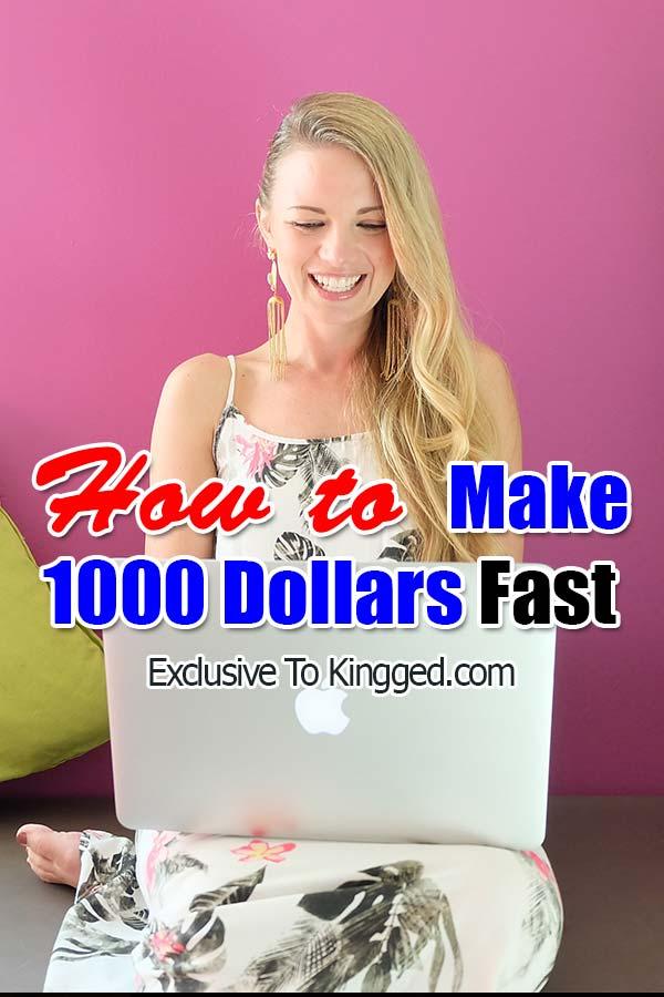 Gana 1000 dólares rápidamente