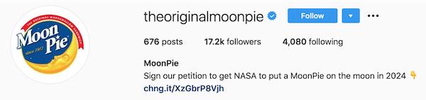 instagram bios moonpie