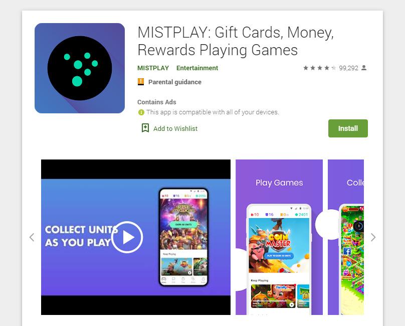 Mistplay en la App Store