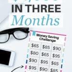 Desafío de dinero de 52 semanas para imprimir