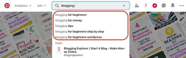 Cómo encontrar el público objetivo de tu blog: palabras clave de Pinterest para ideas y temas de publicaciones de blog