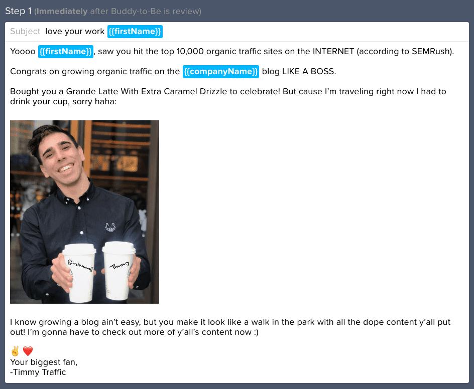 correo electrónico de divulgación de christ von wilpert con imagen personalizada