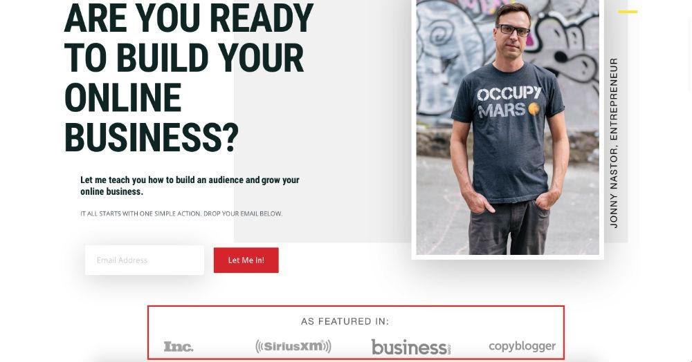 Captura de pantalla de la página de inicio del sitio web de HTE