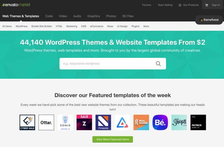 Los mejores temas de WordPress para bloggers y blogs - Themeforest