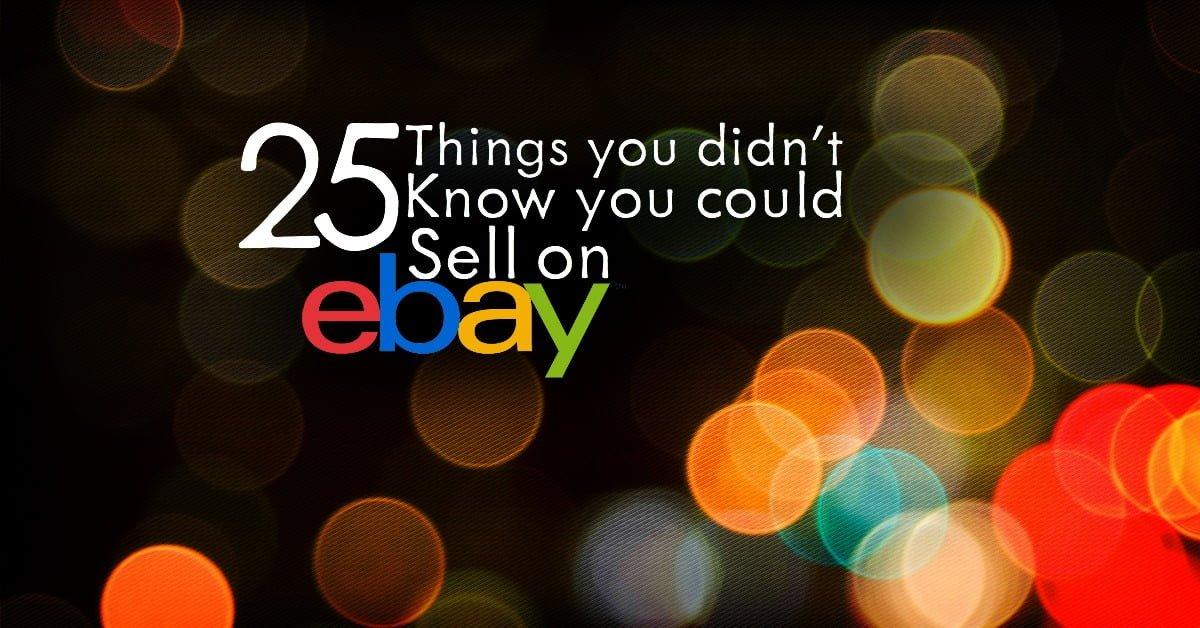 ¿Estás buscando formas sorprendentes de hacer un reparto adicional? ¡Mira estas 25 cosas que nunca supiste que podrías vender en eBay!