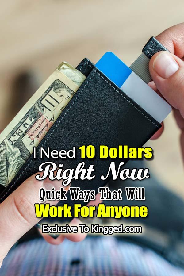 Necesito 10 dolares ahora
