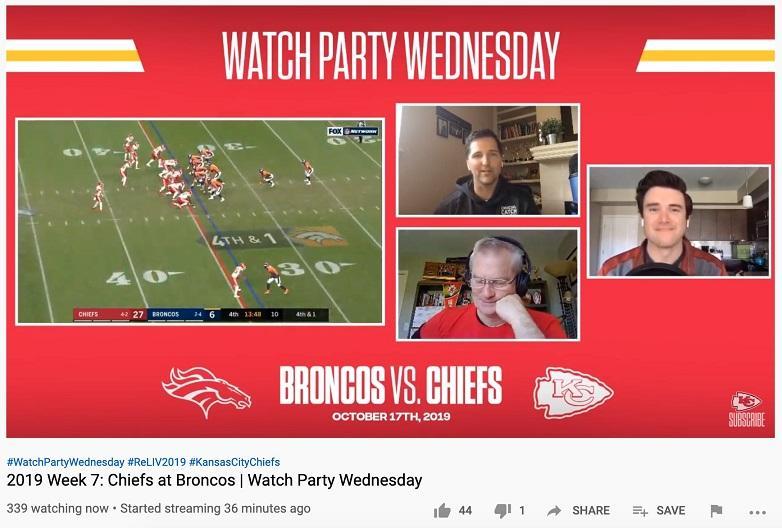 Discusión de fútbol en vivo de YouTube