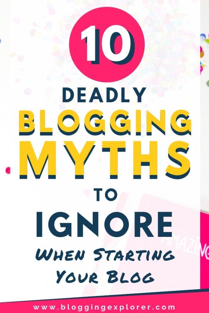 Mitos y conceptos erróneos sobre los blogs que debes ignorar cuando comienzas un blog desde cero para hacer crecer tu blog y ganar dinero con los blogs: consejos sobre blogs para principiantes
