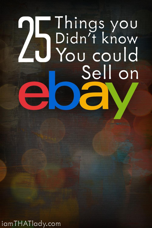 Te CONDUCIRÁ al ver que parte del artículo en esta lista puede hacerte GRAN DINERO vendiendo en Ebay.